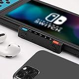 HomeSpot Bluetooth Adapter Pro für Nintendo Switch, Switch Lite mit Voice Chat und Audio Mixer zwischen Smartphone und Switch kompatibel mit Bluetooth Kopfhörer AirPods Pro Bose Sony Jabra (Blau-Rot)