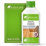 Nordicare Hartwachsöl [500ml] farblos zur Holz-Pflege I Holzwachs farblos Öl für vielfältige Holzarten I Wachs Holzöl, Wachsöl für Holz, Holzpflegeöl