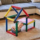 Quadro | Beginner | Klettergerüst und Lernturm für drinnen und draußen | Fördert Entwicklung von Kindern | Beliebig modular & erweiterbar | 6 Jahre Garantie | Ab 6 Monaten bis 2 Jahren