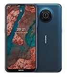 "Nokia X20 5G Smartphone, Dual-SIM, RAM 8GB, ROM 128GB, 64MP Quad-Kamera, 3 jahre herstellergarantie, 6,67"" Full HD+ Display, langlebiges Design, 2 Tage Akkulaufzeit und Pure Android 11 - Nordic Blue"