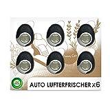 Air Wick Auto-Lufterfrischer – Duftspender für das Auto gegen unangenehmen Geruch – Duft: Holz und Leder – 6er Megapack für insgesamt bis zu 240 Tage Duft