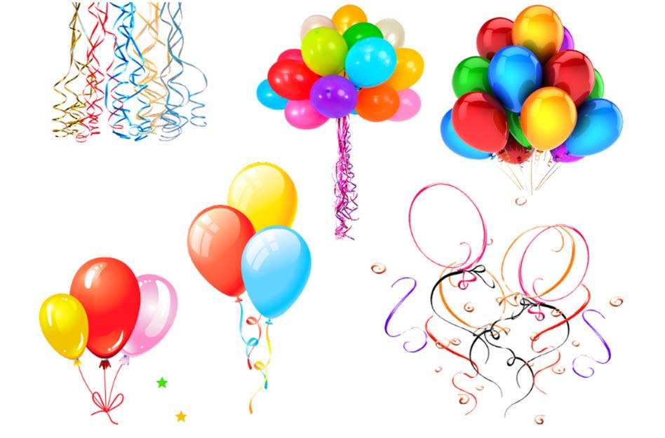 Luftballons für Geburtstagsfeiern